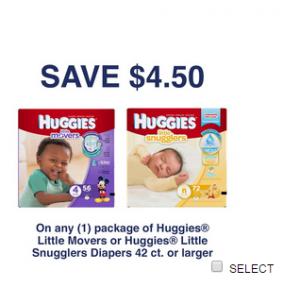 Huggies coupons printable $4.50
