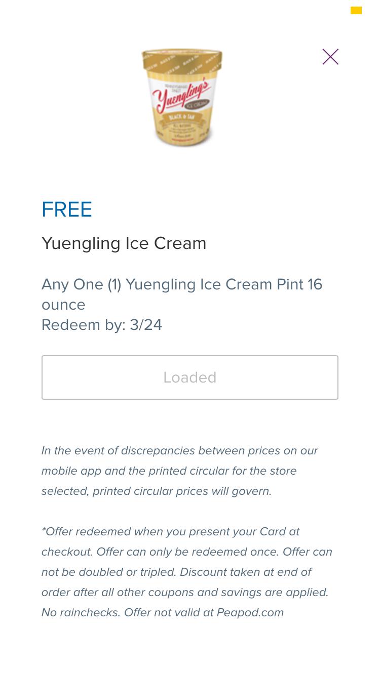 Ice cream coupons printable